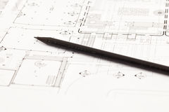 Architectural drawing Royalty Free Stock Images