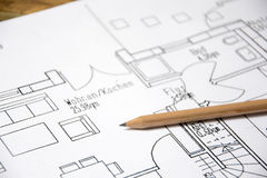 Architectural drawing Royalty Free Stock Image