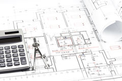 Architecture blueprint detail Stock Photos