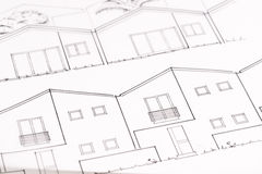 Architectural Drawing Stock Photo