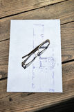 Architectural drawing or sketch Stock Photos