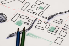 Architectural Urban Drawing Stock Image