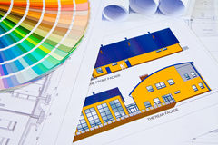 Architectural drawings stock photography