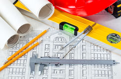 Architectural drawings Stock Image