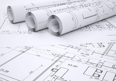 Architectural drawings vector illustration