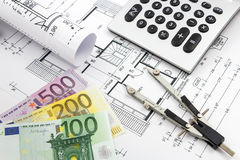 Architectural drawings of a house Royalty Free Stock Images