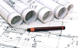 Architectural Drawings projects Stock Images