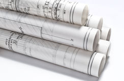 Architectural Drawings projects Stock Photography