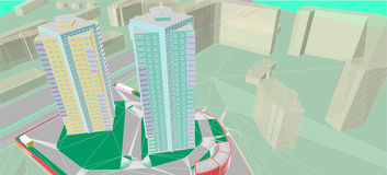 Architectural drawings Stock Images
