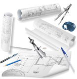 Architectural Drawings Royalty Free Stock Photos