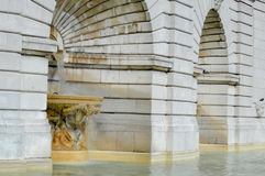 Architectural Edifice with Fountain Stock Images