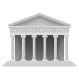 Architectural element. Big Portico an ancient temple. Colonnade. Illustration on white Royalty Free Stock Photos