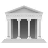 Architectural element. Portico an ancient temple. Colonnade. Illustration on white Royalty Free Stock Photography