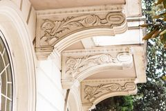 Architectural element of baroque stock photos