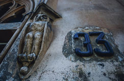 33. Architectural element in the form of a volute. Detail decorative architectural elements. Stock Photography