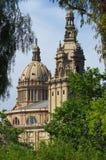 Art museum in Montjuic, Barcelona Royalty Free Stock Image
