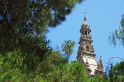 Art museum in Montjuic, Barcelona Stock Photo