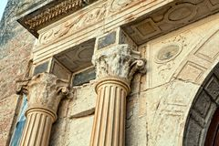 Architectural elements of the ancient temple Royalty Free Stock Photography