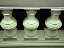 Architectural elements of the balustrade. Beautiful balusters Royalty Free Stock Images