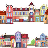 architectural elements . house ,store and shop Royalty Free Stock Photo