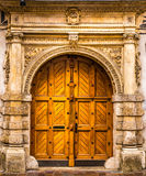 Architectural elements. Of the old European-style doors stock photography
