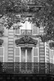 Architectural elements Parisian buildings. stock photos