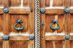 Architectural elements of St. Sophia Cathedral doors in Veliky Novgorod Royalty Free Stock Photography