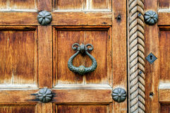 Architectural elements of St. Sophia Cathedral doors in Veliky Novgorod Royalty Free Stock Images