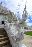 Architectural elements of White Temple - Wat Rong Khun in Chiang Royalty Free Stock Photo