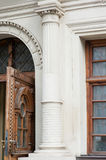 Architectural elements windows, columns of Lviv Royalty Free Stock Image