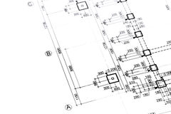 Architectural or engineering plan Stock Photos