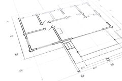Architectural or engineering plans Royalty Free Stock Photo