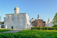 Architectural ensemble of ancient churches  in Veliky Novgorod, Russia Stock Photos
