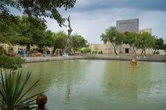 The architectural ensemble Lyabi-Hauz Royalty Free Stock Photo