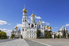 The architectural ensemble of the Moscow Kremlin Stock Photography