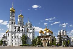 The architectural ensemble of the Moscow Kremlin. Stock Photography