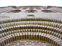 Architectural ensemble from red brick Stock Photos