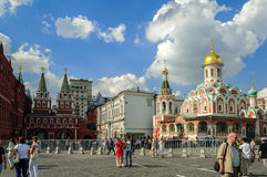 Architectural ensemble of the Red Square in Moscow, Russia Royalty Free Stock Images
