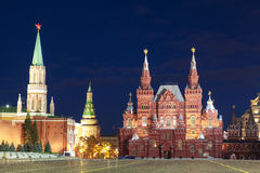 The architectural ensemble of the Red square at night, Moscow Royalty Free Stock Image