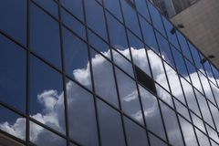 Architectural exterior detail of industrial office building with. Cloud Royalty Free Stock Photography