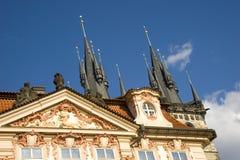 Architectural facade, Prague. Stock Photo