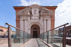 Architectural feature of buildings at Ferrara Stock Photography