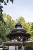 Architectural feature of the Music Pavillion. SARAJEVO, BOSNIA AND HERZEGOVINA - AUGUST 18 2017: Architectural feature of the Music Pavillion situate in At Stock Photo
