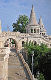 Architectural features of Fisherman's bastion Stock Photography