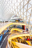 Architectural features of the MyZeil shopping mall in Frankfurt Stock Photography