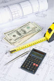 Architectural and financial stock photo
