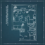 Architectural Floor Plan Royalty Free Stock Photo