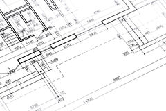 Architectural floor plan Royalty Free Stock Photos