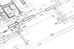 Architectural floor plan Royalty Free Stock Photos