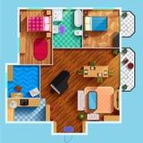 Architectural Floor Plan Stock Photo